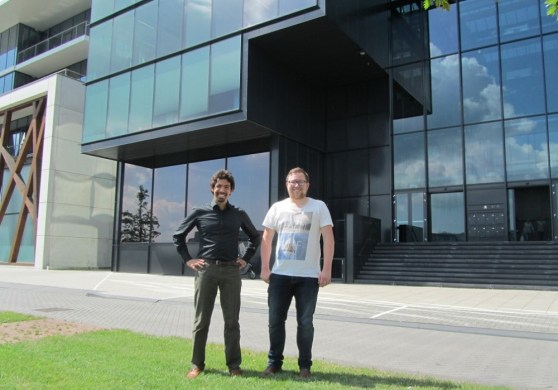 Happitech founders Josef Safi Harb and Jelmer Raaijmakers.