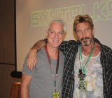 Richard Byrne Reilly of VentureBeat and John McAfee, who spoke at Defcon about protecting privacy.
