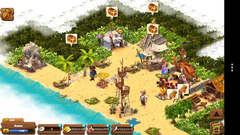Kiwi's game Shipwrecked: Lost Island.