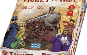 The Ticket to Ride board game.