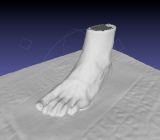 A 3D foot model by Volumental