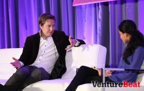David Helgason, CEO of Unity, at GamesBeat 2014 with Malathi Nayak of Reuters.