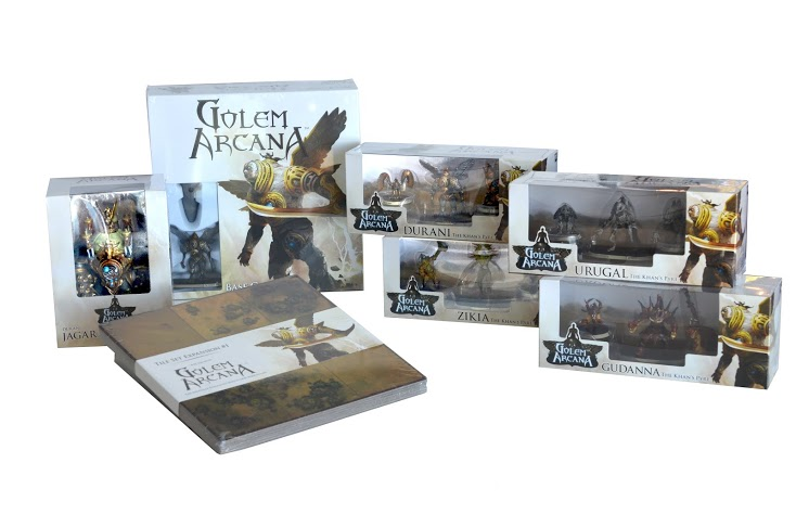 A sample of some of the Golem Arcana products.