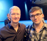 John Meyer, with Apple CEO Tim Cook