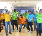 A promotional photo of Microsoft's Boston retail store