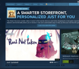 Steam's new storefront is working.
