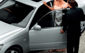 A valet parking service