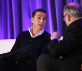 EA CEO Andrew Wilson speaking at GamesBeat 2014.