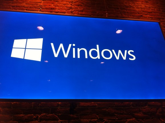 A display at a Microsoft Windows press event in San Francisco on Sept. 30.