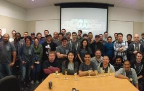 The Star Wars: Commander development team following its latest hackathon.