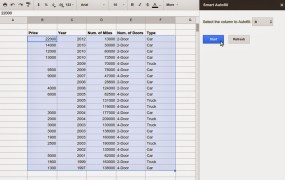 Google Sheets with Smart Autofill
