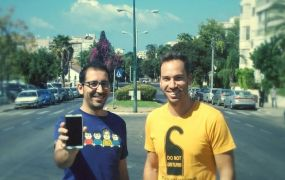 Sensiya's Yossi Marouani and Noam Fine on the streets of Tel Aviv.
