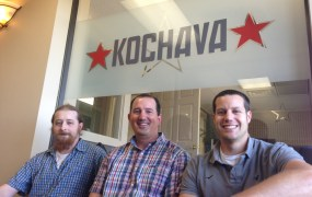 Kochava's new data scientists. From left: Noel Cower, Seth Samuels and Paul NIeman