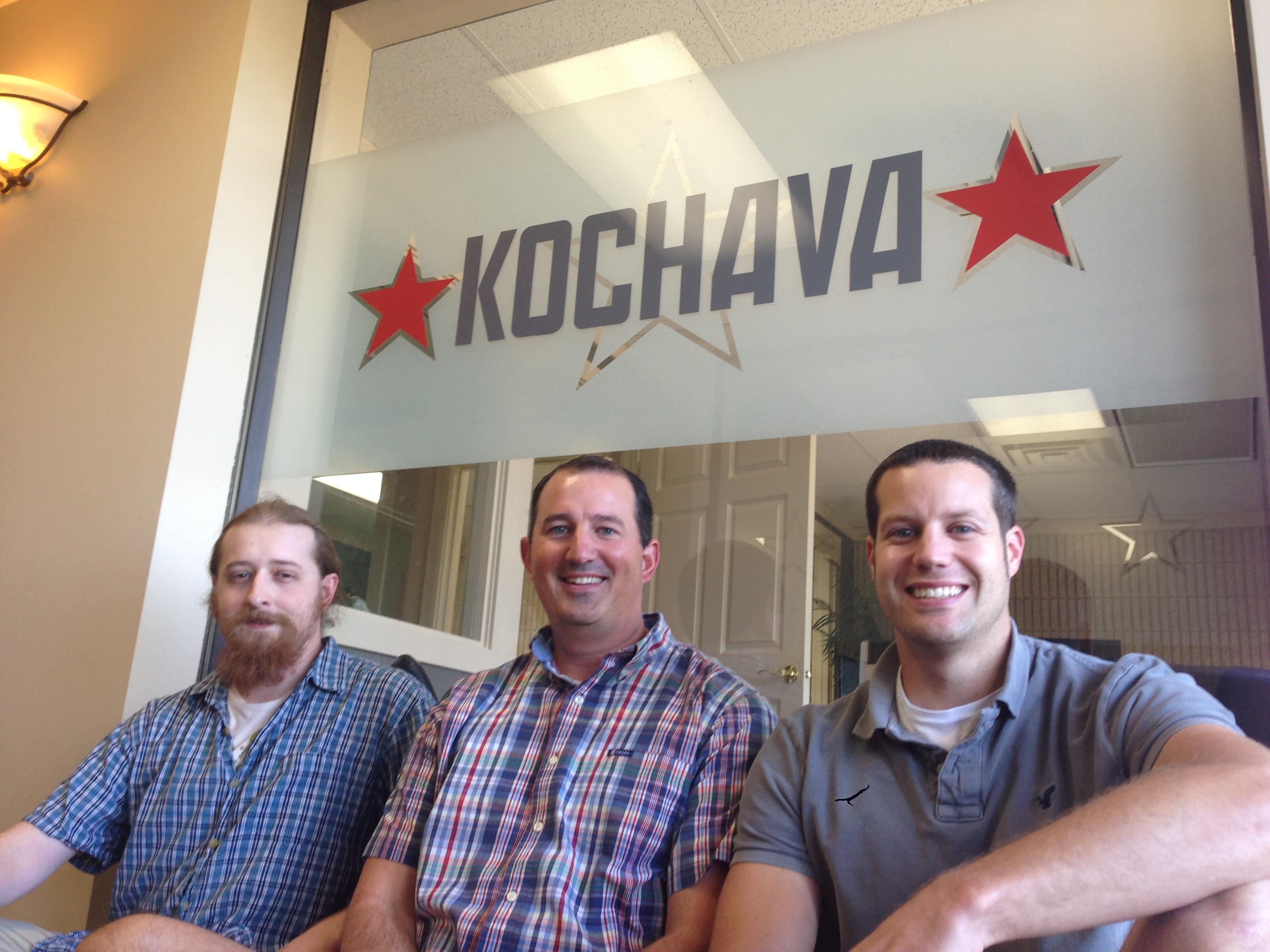 Kochava's new data scientists. From left: Noel Cower, Seth Samuels and Paul NIeman