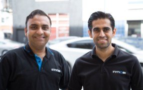 InMobi's Amit Gupta and Atul Satija.