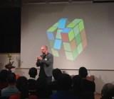 Jonathan Løw, CEO of Denmark's Listen Louder, speaks at FailCon Toulouse.