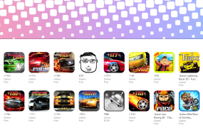 The racing subcategory of the iOS App Store right now. It's a mess.