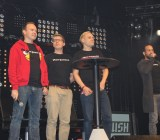 Peter Vesterbacka of Rovio (in red) and creators of Iron Danger