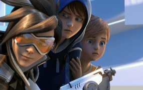 Characters from Overwatch, Blizzard's new team shooter.