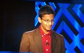 Shubham Banerjee, the 13-year-old founder of Braigo Labs, which is one of 16 companies Intel Capital is investing in.