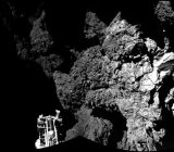 The Philae probe landed in a place where its solar panels could not recharge its battery.