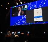 Google's Bradley Horowitz walks through the new Google Hangout app at LeWeb 2014 in Paris.