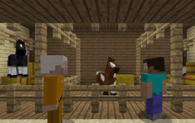 Horses are now in Minecraft: Xbox One and Xbox 360 Editions.