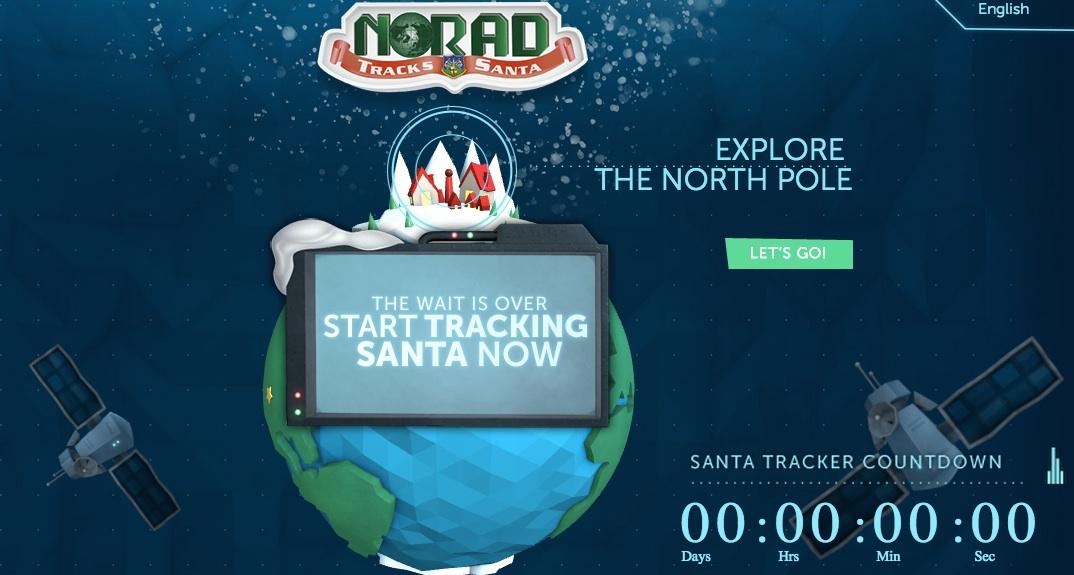 NORAD's Santa Tracker is live.