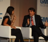 Tim Draper of DFJ and Kim-Mai Cutler of TechCrunch at GMIC.