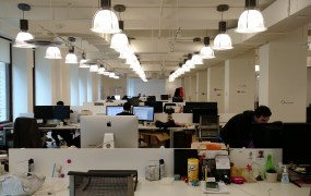 Office space for startups at Work-Bench in New York on Dec. 11.
