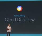 Google executive Urs Hölzle introduces Google Cloud Dataflow at the Google I/O conference in San Francisco in June 2014.