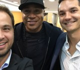 Sense360 founders Portnoy (L) and Mroczek (R) hanging with LL Cool J in Culver City.