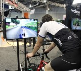 Biking is fun with this game at CES 2015.