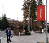 On the Microsoft campus in Redmond, Wash., on Jan. 21.