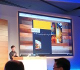 Joe Belfiore, corporate vice president of Microsoft's operating systems group, shows off Microsoft's new browser for Windows 10, codenamed Project Spartan, at a Microsoft press event in Redmond, Wash., on Jan. 21.