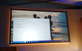 Microsoft's Cortana personal digital assistant in an early build of Microsoft Windows 10, at a Microsoft press event in Redmond, Wash., on Jan. 21.