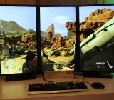 AMD's Eyefinity powers three displays.