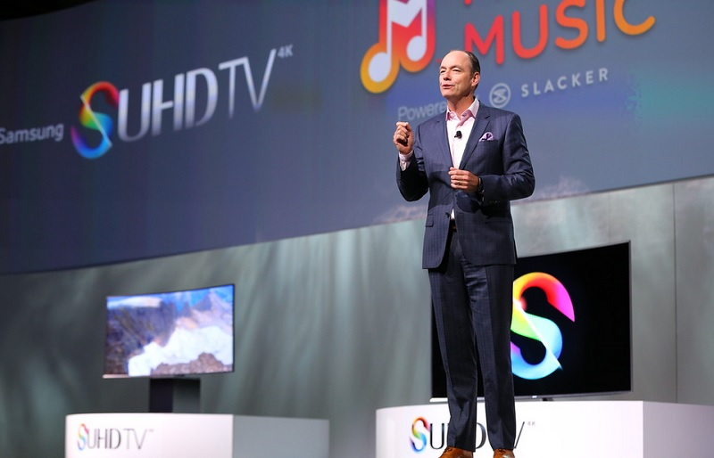 Samsung introduced new music and video services for 4K TVs at CES 2015.