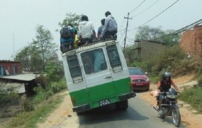 overloaded bus