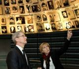 Apple CEO Tim Cook at the World Holocaust Museum in Jerusalem, Israel.