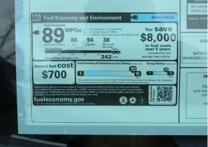 Road test information for the 2014 Tesla Model S P85D in, December 2014.