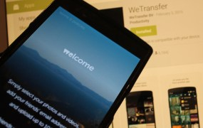WeTransfer on Mobile