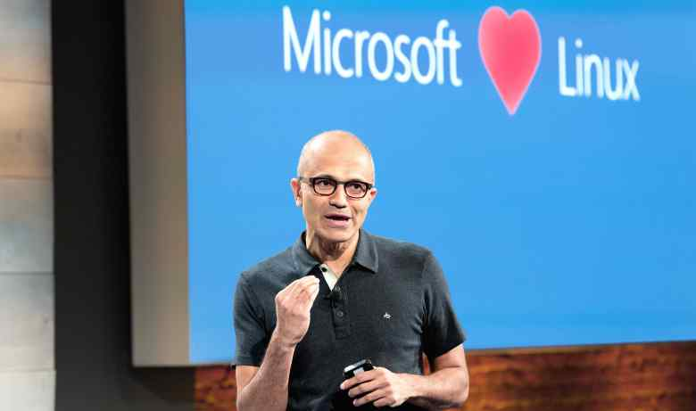 Satya Nadella, Microsoft's chief executive, speaks at a company cloud event in San Francisco in October 2014.