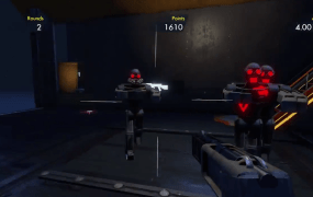 "Waves of attacking enemies in the fan-created ""CODZ"" level in Trials Fusion."