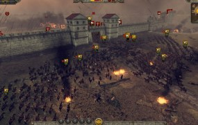 Total War: Attila. Attack on the city gates.