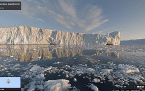 The Ilulissat icefjord in Greenland is a popular tourist destination and  an UNESCO World Heritage site.