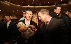 The CEO of Uber, and an adorable Puppy