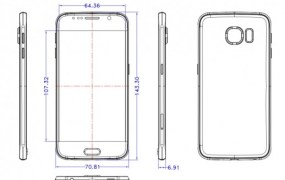 An early leaked schematic of the Samsung Galaxy S6 phone.