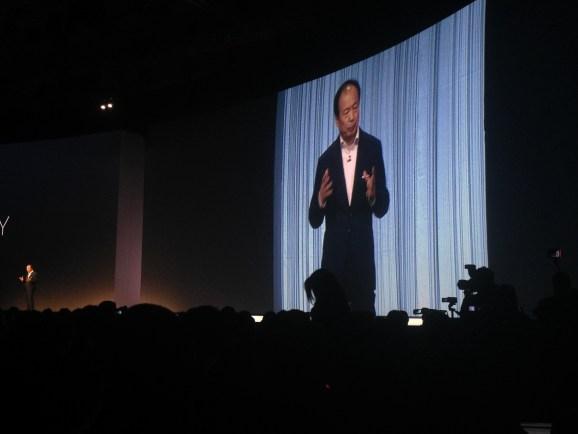 Samsung CEO J.K. Shin demonstrates how he plans to crush Apple like a bug.