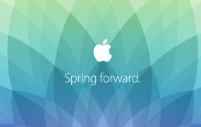 "The promo graphic for Apple's ""Spring Forward"" event on March 9"